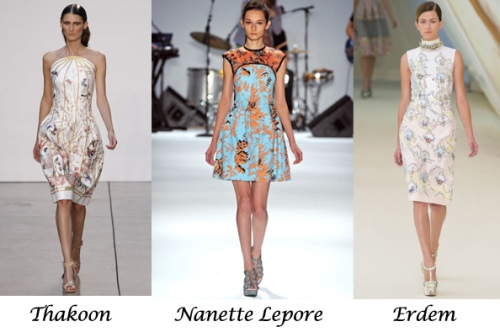 Dresses on 2013 S/S Runways