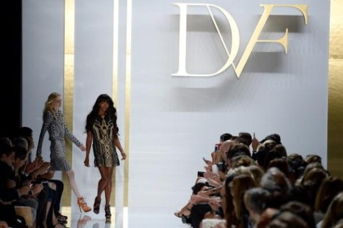 Naomi Campbell closing the show at DVF