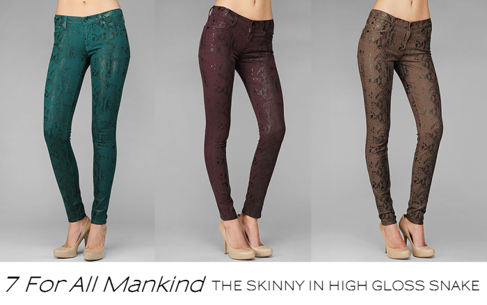 7 For All Mankind Snake Skin Jeans